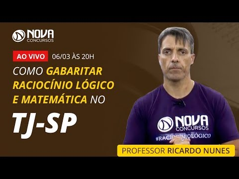 TJ-SP - Como Gabaritar Raciocínio Lógico e Matemática   Ricardo Nunes