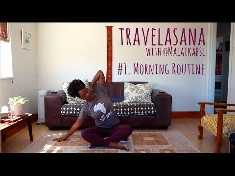 Simple Morning Yoga ||  Travelasana with Malaika (South Africa)