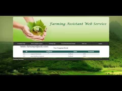 Farming Assistant Web Service