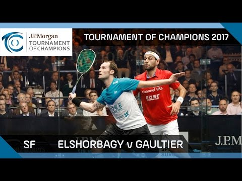 Squash: ElShorbagy v Gaultier - Tournament of Champions 2017 SF Highlights
