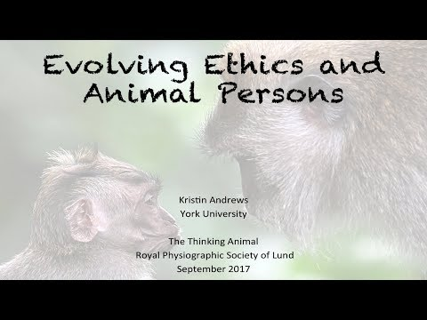 Kristin Andrews - Evolving ethics and animal persons