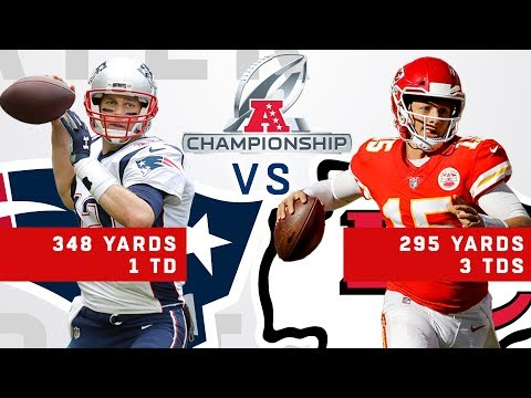 Tom Brady vs. Patrick Mahomes Highlights in the AFC Championship Game