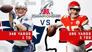 Tom Brady vs. Patrick Mahomes Highlights in the AFC Championship Game thumbnail