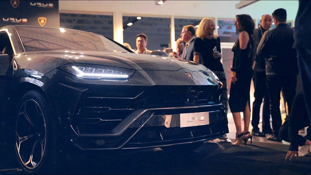 Lamborghini Urus Unveiling At Lamborghini Newport Beach With