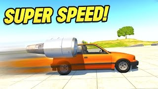 BeamNG Drive : CRASHING THE FASTEST CAR IN THE WORLD?! (BeamNG Drive Crashes)