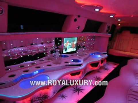 New Chrysler 300 >> Pink Chrysler 300 Limo limousine - www.ROYALUXURY.com - YouTube