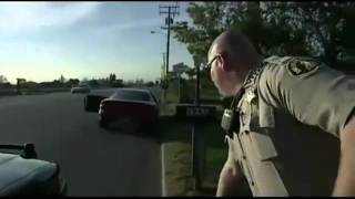 Bicyclist hit by Car, While the police perform their duties on highway.flv
