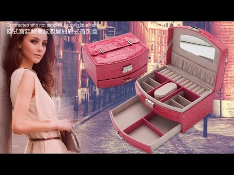 HOT Selling multifunction jewellery box fashion leather watch box, Wholesale jewelry boxes