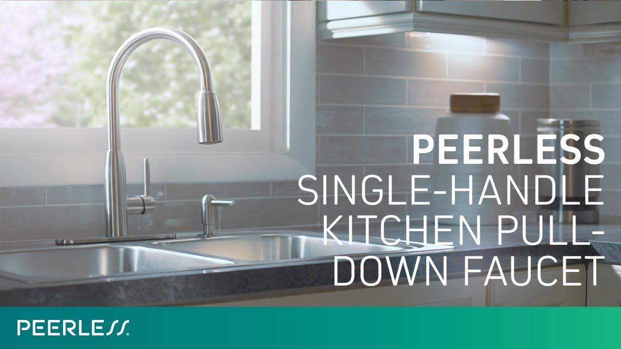 Peerless Single Handle Pull Down Kitchen Faucet