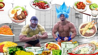 EATING LIKE GOKU IN JAPAN