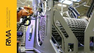 RMA Sp. z o.o. - Automatyczny system obróbki den sitowych / wymienników ciepła