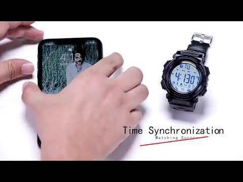 Beeasy Mens Sport Watch Waterproof With Pedometer Calorie Stopwatch Call SMS Reminder