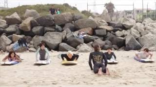 Surf lessons available in Los Angeles taught by Kent Nishiya in bot...