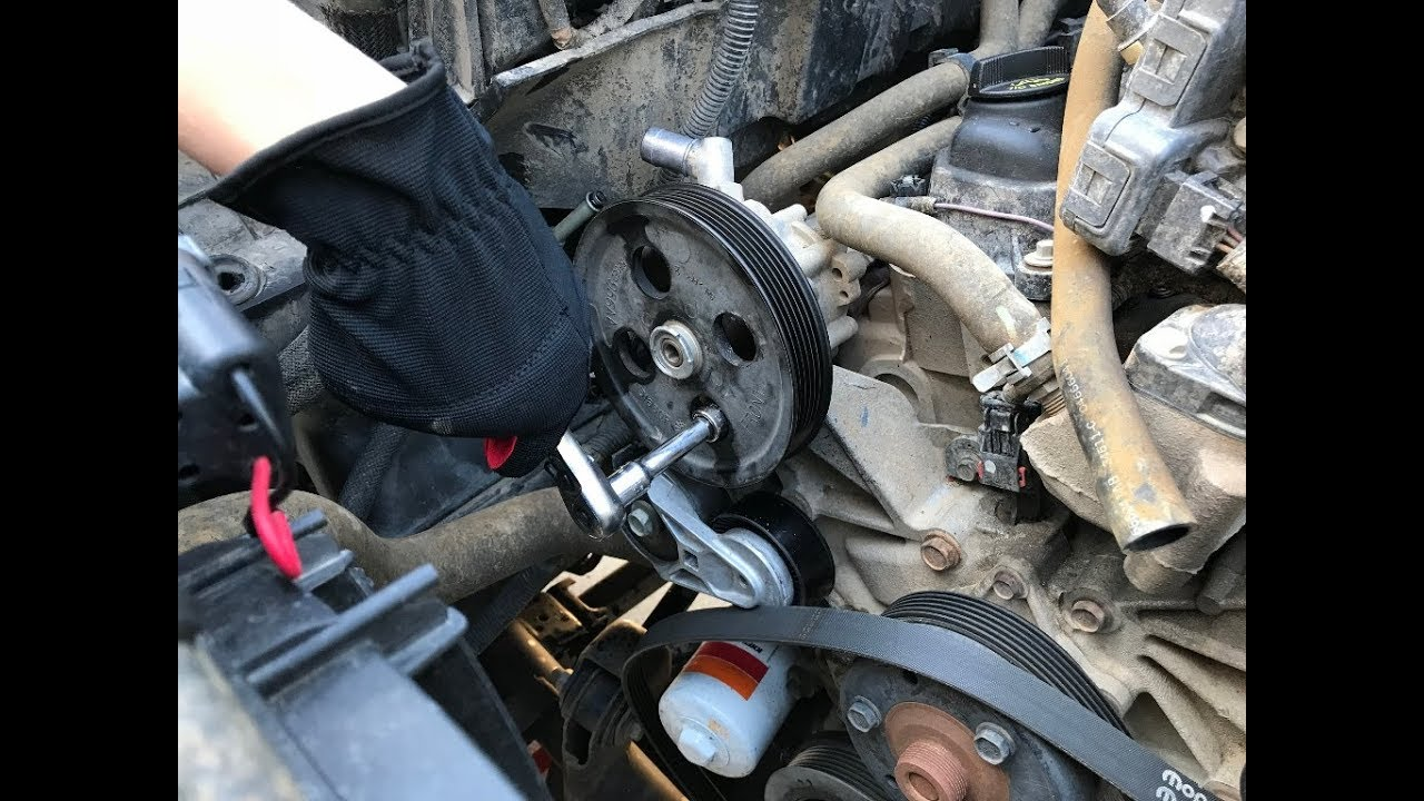 small resolution of jeep wrangler jk power steering pump and pulley replacement