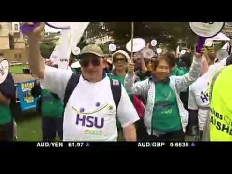 Government workers rally in Sydney