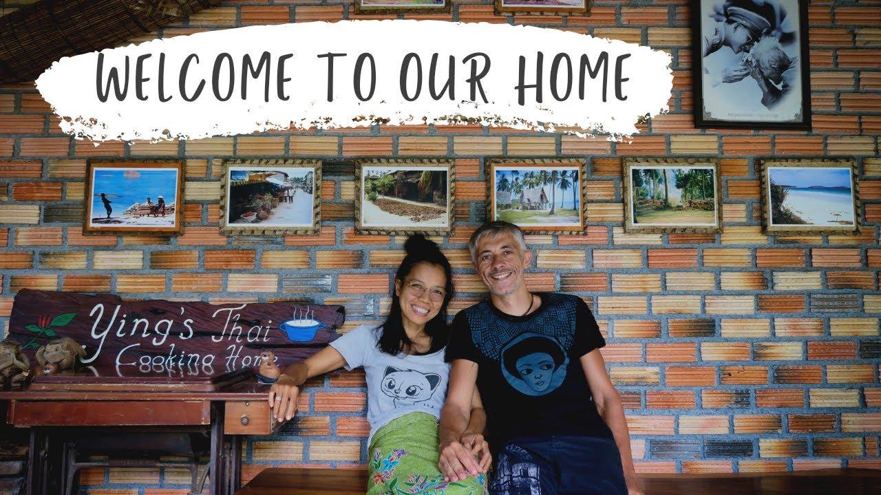 Das Leben in einem grünen Garten auf Koh Samui
