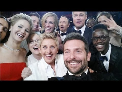 Ellen DeGeneres GROUP SELFIE At Oscars 2014 With Jennifer Lawrence, Brad Pitt Creates HISTORY