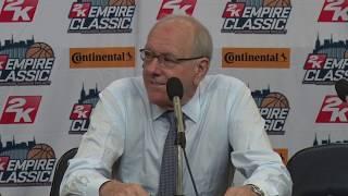 Boeheim Press Conference | Syracuse vs. Oregon