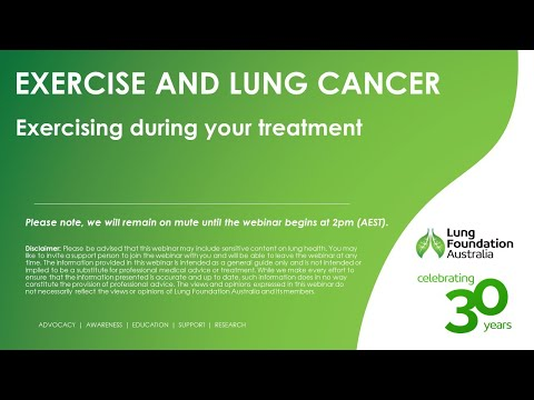 Live Well, Breathe Better: Lung Cancer: Exercising during treatment