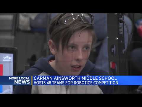 Carman-Ainsworth Middle School hosts 48 teams for robotics competition