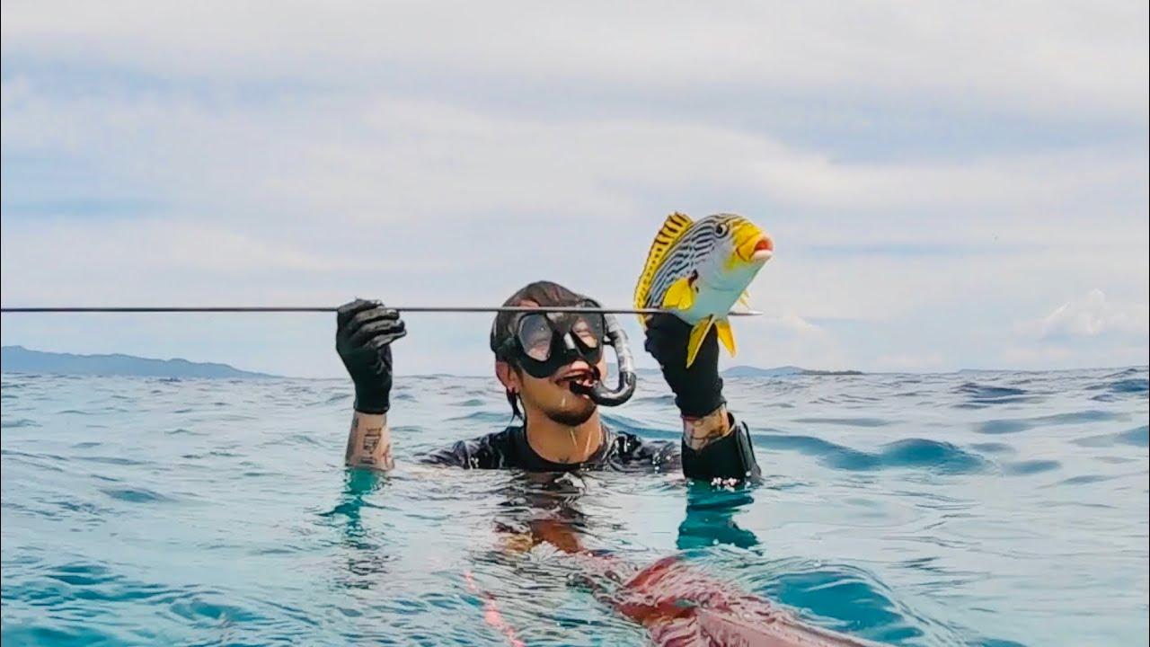 MY FIRST SWEET LIPS FISH (SPEARFISHING) | Geo Ong