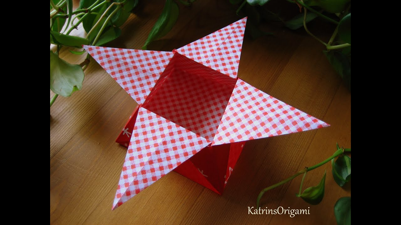 Origami ☆ Star Box ☆ ( traditional ) ¸.•*☽☼☾*•.¸¸ - YouTube - photo#27