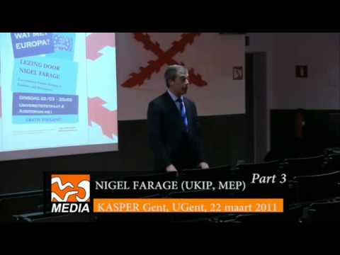 Nigel Farage speaks at Ghent University - Flanders