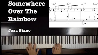 Somewhere Over The Rainbow Jazz piano inspired by Keith Jarret