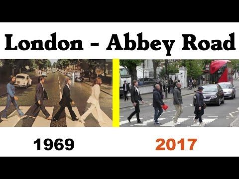 London Abbey Road - Beatles 1969 - Today / Heute 2017 - lustige Touristen - funny tourists