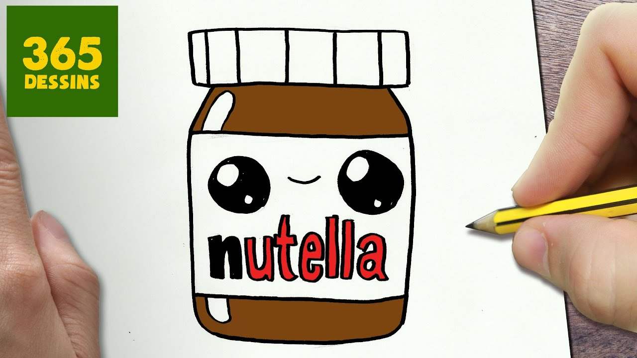Coloriage Yeux Kawaii.Comment Dessiner Nutella Kawaii Etape Par Etape Dessins Kawaii