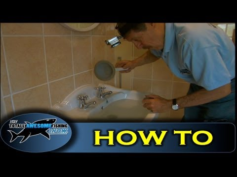 How to unclog/unblock a sink drain - The Totally Awesome Fishing Show