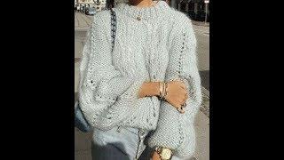 Женский Свитер Спицами - 2019 / Women's Sweater Knitting / Frauen Pullover stricken