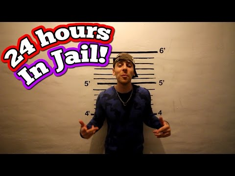 (GHOSTS!) 24 HOUR OVERNIGHT CHALLENGE IN JAIL// 24 HOUR OVER