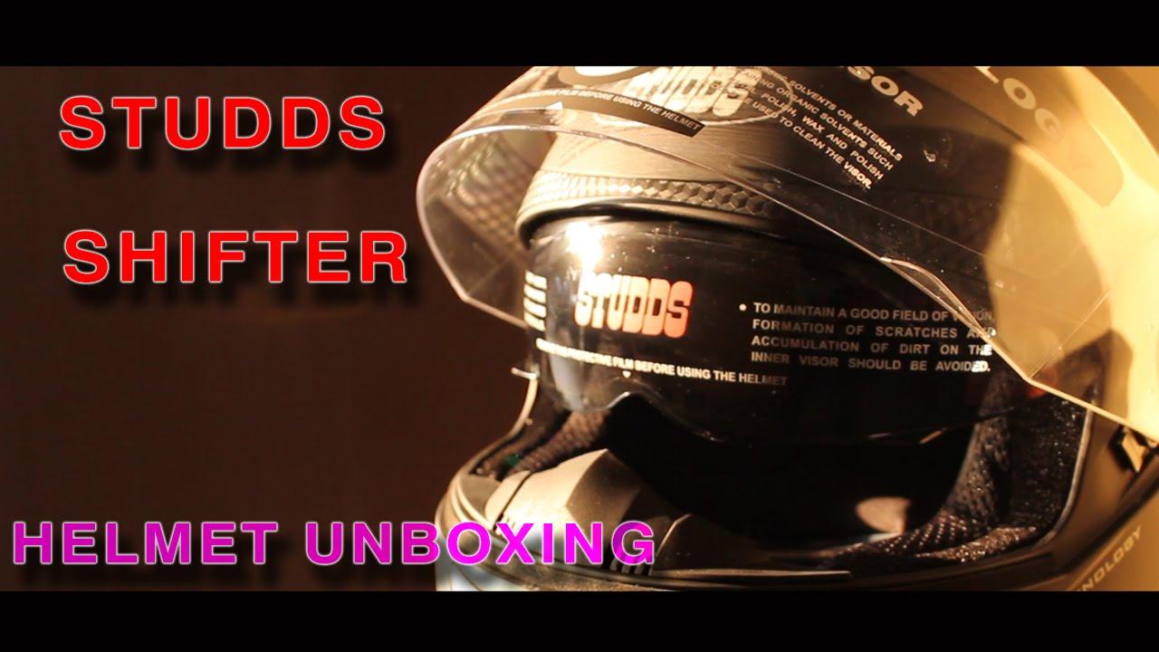 Studds Shifter Helmet Review Youtube: STUDDS SHIFTER (MATTE) Full Face Helmet Unboxing