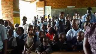 Children at Bridge of Hope School - Buganda National Anthem & School Anthem