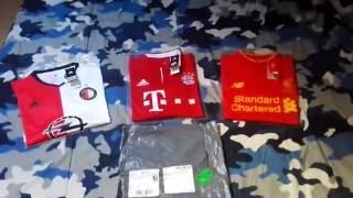 Gogoalshop.com shirts Review 2016/17 season kits - Feyenoord, F.C.Bayern München & Liverpool F.C.