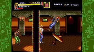 Sega genesis classics streets of rage 2 gameplay on hard mode stage 1 n stage 2