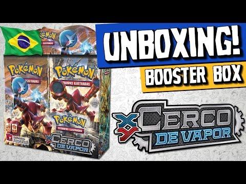 "Pokémon TCG - Unboxing Booster Box ""Cerco de Vapor"" (COPAG)"