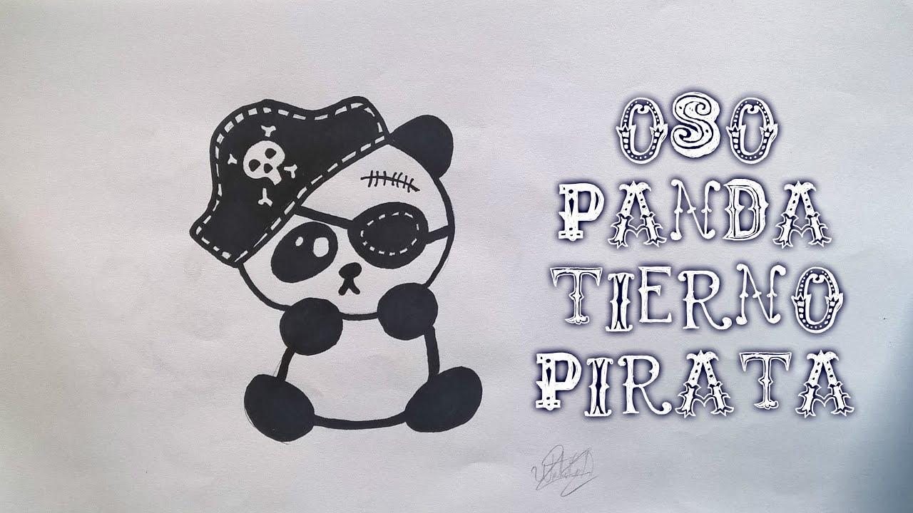 Como Dibujar Un Oso Panda Pirata Tierno