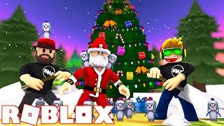 HELPING SANTA TO FIND HIS MAGIC PENGUINS in ROBLOX SNOW SHOVELING SIMULATOR