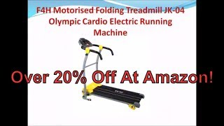 Motorised Electric F4H JK41A Motorised Treadmill Running Exercise Machine Fitness Folding Power Exercise Fit4home