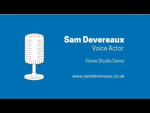 Sam Devereaux Voice Actor - Home Studio Demo