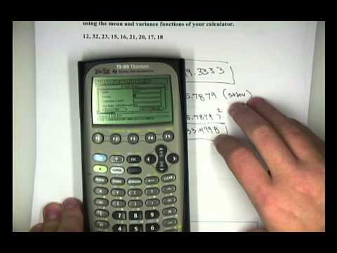 Elementary STAT Calculator 89 Titanium 1var stats.mp4