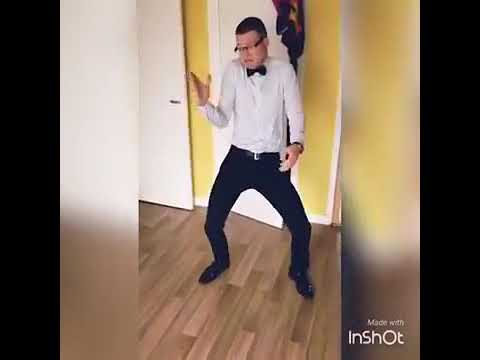 White man dancing....African music