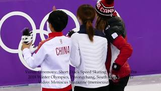 Short Track Speed Skating Women's 1500m Venue Ceremony - 2018 Winter Olympics