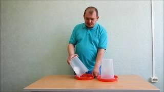 Кормушка бункерная. Объем 3 литра (Видео обзор)