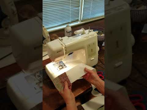 Paper Foundation Piecing Meets Adding Machine Tape   Hightower Stitching