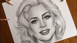 Lady Gaga - Realistic Graphite Drawing