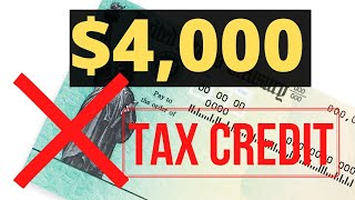 $4,000 Stimulus Check Proposal:  It's [NOT] A Check