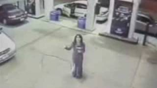 Ghost caught on security tape at gas station